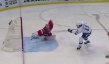 Wings Goalie Petr Mrazek Makes Unbelievable Stick Save on Brian Boyle (Video)