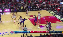 Pistons' Reggie Jackson Sinks an Underhand Prayer Shot (Video)