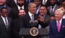 President Obama Makes DeflateGate Joke During Patriots' White House Visit (Video)