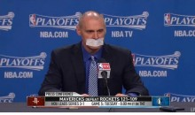 Rick Carlisle Responds to Game 3 Fine with a Taped Mouth (Video)