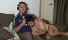 Rugby Interview Crashed by Teammate in his Underwear (Video)