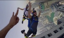This Dubai BASE Jump Might Leave You with Sweaty Palms (Video)