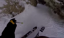This Ski Line, Captured on a GoPro, Is Flat-Out Insane (Video)