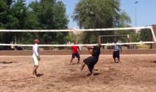 Watch James Harrison Play Volleyball with a Medicine Ball (Video)