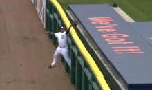 Yoenis Cespedes Catch Robs Kurt Suzuki Of a Homer (Video)