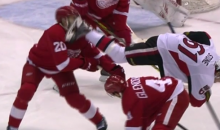Red Wings Forward Drew Miller Takes Skate to Face (Video + Pic)