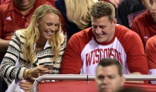 JJ Watt and Caroline Wozniacki Watched the NCAA Championship Game Together (GIF + Pics)