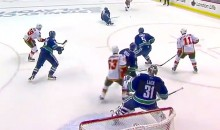 Clutch Last-Minute Goal by Calgary's Kris Russell Steals Game 1 from Canucks (Video)