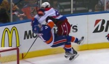 Huge Tom Wilson Hit Decimates the Islanders' Lubomir Visnovsky (GIF)