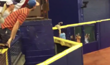 Tropicana Field Invader Nearly Escapes Over Center Field Wall (Videos)