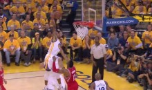 Watch Dwight Howard Bail on This Andre Iguodala Dunk (Video)