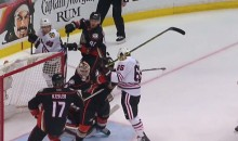 This Andrew Shaw Headbutt Goal Was Disallowed in Double-OT (Video)