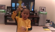 Badass Little Kid Replicates Bruce Lee Nunchucks Scene Perfectly (Video)