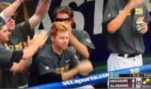 Mizzou Baseball Team Warms Hands on Ginger Teammate (Video)