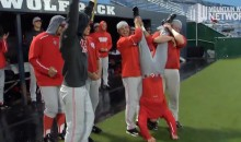 College Baseball Teams Stage Epic Rain Delay Show (Video)