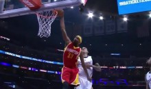 Corey Brewer Gets Nothing But Rim on His Dunk Attempt (Video)