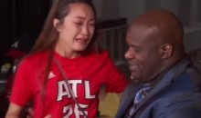 Female Hawks Fan Bawls Her Eyes Out Upon Meeting Shaquille O'Neal (Video)