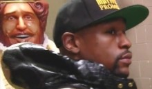 Burger King Walks Down With Floyd Mayweather (Video)