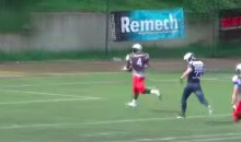 Here's a Sweet Punt Return from a Polish Football League (Video)