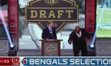 Ickey Woods Shuffles During NFL Draft (Video)