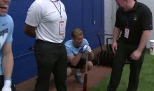 Joe Hart Is Terrified Of a Baseball (Video)