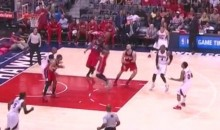 John Wall Makes Crazy Overhead No-Look Pass (Video)
