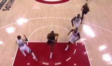 Hawks Players Run For Cover From LeBron James Dunk (Video)
