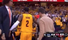 Watch Kyrie Irving Give Anderson Varejao a Subtle Nut Shot (Video)