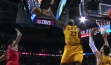 LeBron James Chase-Down Block Prevents D.Rose's Game-Tying Bucket (Video)
