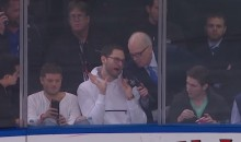 New York Rangers Fan With First Row Seat Kills It During In-Game Interview (Video)