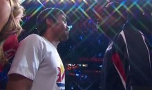 Pacquiao Thanks Mayweather During Weigh-In Staredown (Videos)