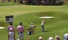 Rory McIlroy Swings and Misses on a Chip from the Rough (Video)