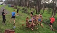 Rugby Prospect David Andjelz Runs Through a Brick Wall (Video)