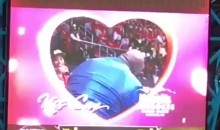 Shaq and Ernie Johnson Get Passionate on the Kiss Cam (Video)