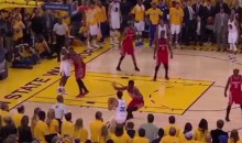 Steph Curry Buzzer-Beater Ends First Half of Game 1 vs. Rockets (Video)