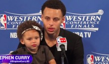 Steph Curry's Daughter Was a Hit at His Press Conference (Video)