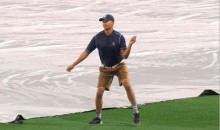 This Padres Groundskeeper Can Dance Like a Machine (GIF)