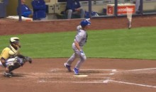 Check Out This Zack Greinke bat flip Following a Double (GIF)