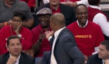 Clippers Coach Doc Rivers Taunts Rockets Fans with a Little Good-Natured Trash Talk During Game 1 (Video)