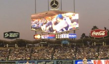 Fans Cheers First Ever Gay Kiss Cam Smooch at Dodgers Stadium (Video)