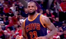LeBron James Gave a Little LeBron Wink to Scottie Pippen as the Cavs Finished Off the Bulls (Video)