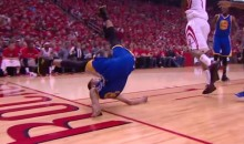 Here's the Steph Curry Fall that Scared the Bejesus Out of Everyone (Video)