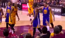 Andre Iguodala Gets Left Hanging After a James Jones Block (Video)