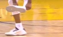 Andre Iguodala Loses Shoe, Hits Three (Video)