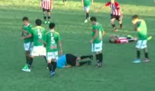 Argentine Soccer Player Knocks Out Ref with a Left Hook (Video)