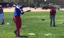 Watch Barry Bonds Hit Home Runs from the Ladies Tee at His Youth Baseball Camp (Video)