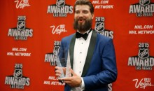 Brent Burns Looked Like This During Last Night's NHL Awards (Pic + Video)