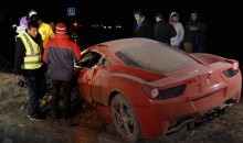 Chile's Arturo Vidal Smashes Ferrari, Charged With DUI (Pics + Videos)