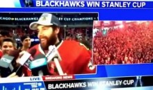 Corey Crawford Drops F-Bomb During Live Interview (Video)