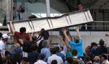 Debris From Scoreboard Falls On Fans At French Open (Video)